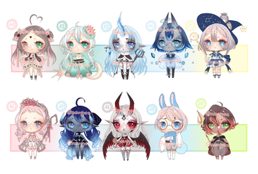 ADOPTS: 100 Adopt challenge 11-20 [2/10 OPEN] by Mewpyonadopts