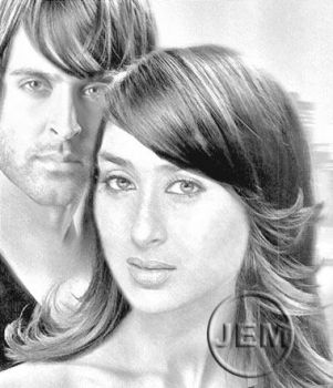 Hrithik and Kareena by jennyandersson