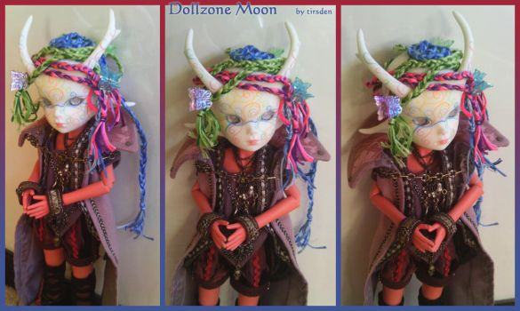 Dollzone Moon - faceup and wig by tirsden