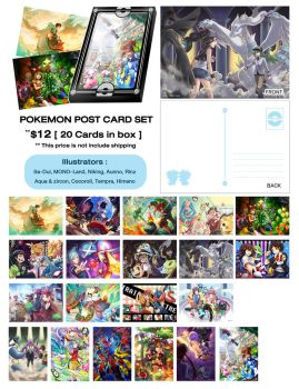 Pokemon Postcard Set by MONO-Land