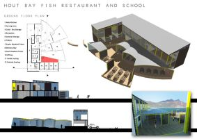 Fish Restaurant and School by Roger-Rabit