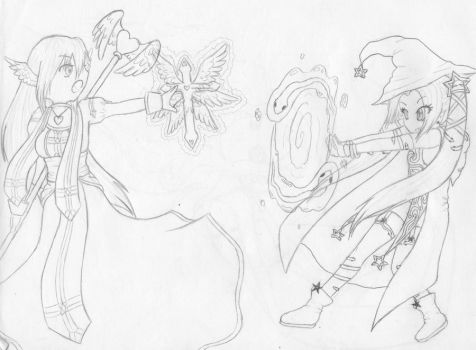 Magical Fight: RPG styling by SapphireShadowDragon