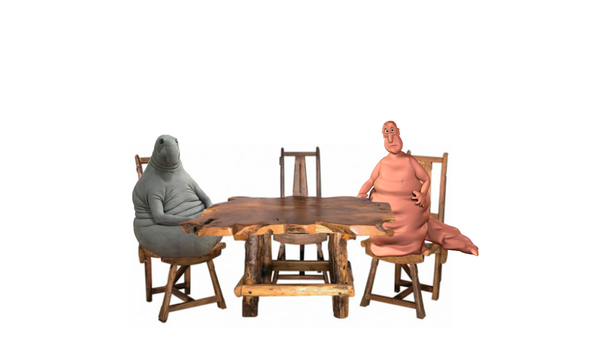 Zhdun and Globgogabgalab Sitting In Nothingness by HauntingsTrash