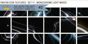 Icon Textures Set 17 - Monochrome Light Waves by colorfilter