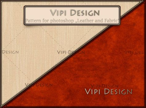 Pattern for photoshop - Leather and Fabric by elixa-geg