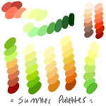 Summer palettes by GreaserDemonAdopts