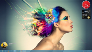 Windows 8 Desktop (Girl Wallpaper) by zaktech90