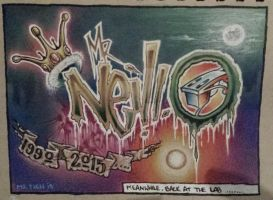 Dj Mr Neill graffiti by Richie303