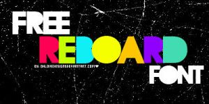 reboard font by ohlovedesigns