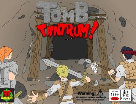 TOMB TANTRUM buildable board game  by artman101