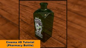 Pharmacy Bottle (Cinema 4D Tutorial) by NIKOMEDIA