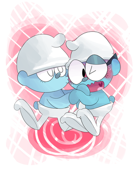 Commission - Clumsy and Brainy Smooch by KrystalFleming