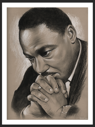 MLK Praying by gregchapin