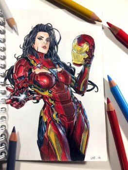 Ironwoman Color pencil by Latchunga