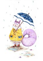 Lady squirrel doesn't like to get wet by Lu-Art