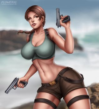 Lara Croft by Flowerxl