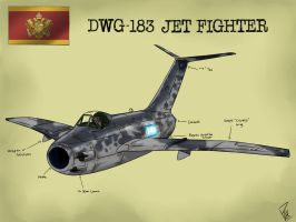 DWG-183 Jet Fighter by PAK-FAace1234
