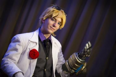 Ezreal charming as ever by J-Kameko