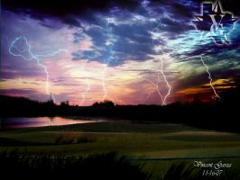 Lightning Landscape by LilFlac3