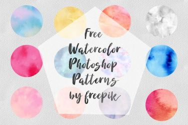 Free Watercolor Photoshop Patterns by toxiclolley88