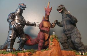 Terror of Mechagodzilla Diorama by Legrandzilla