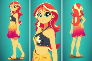 Sunset Shimmer Swimsuit Edition by SilverHD2