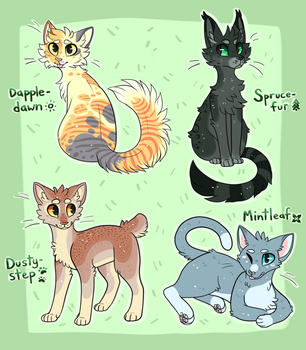 Some Warrior Kitty adopts (2/4 open!) by TuxedoDragon