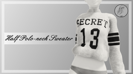 [MMD] Half Polo-neck Sweater (+DL) by AppleWaterSugar
