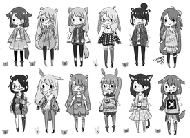 Kemonomimi Adopts: Girls [CLOSED] by doodles-adopts