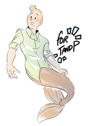Merman Tintin Request by Meadowi