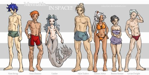 SpaceMermaids - Main and Corp by askerian