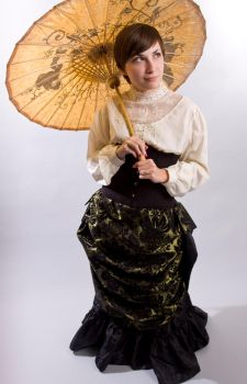 Gold Victorian Skirt by ibukij