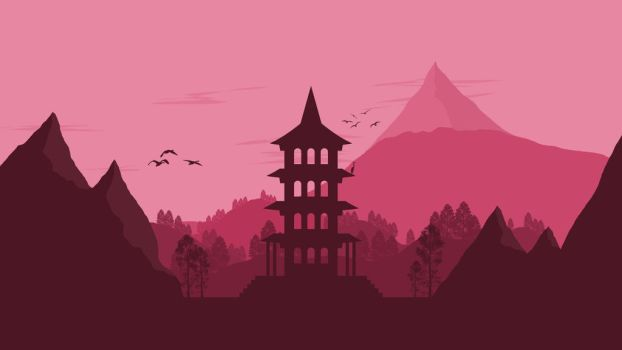 Landscape [12] - Japanese Pagoda by ncoll36