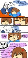 i have a beautiful smile [UT comic] by pinapplekid