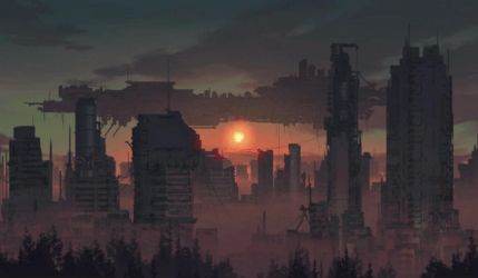 city speed paint Ae Practice by thatnickid