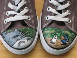 Totoro shoes by kayleigh29
