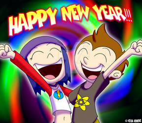 HAPPY NEW YEAR from Kevin and Violet! by JIMENOPOLIX