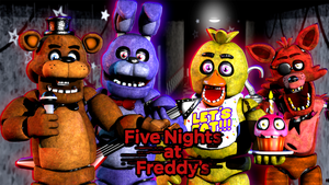 We are all friends here at Freddy Fazbear's pizza! by AndyDatRaginPurro