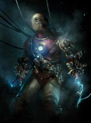 industrial steampunk iron man by BennyKusnoto