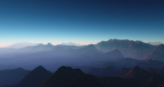 On Top of the Mountain (3) by Ghostly-Apparition