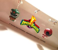 Power Rangers keychains by F1shcustoms
