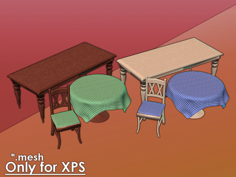 Tables and Chairs for XPS by Gragra96