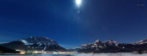 Zugspitze Mountains at Night 2 by Creative--Dragon