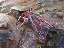 Far Harbor Giant Hermit Crab (completed) by JordanGreywolf