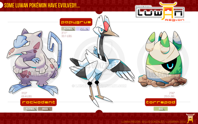 Luwan Evolved Forms! [Route 1] by LuisBrain
