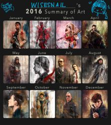 Summary of Art 2016 by WisesnailArt