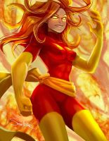 Dark Phoenix by SteveMillersArt