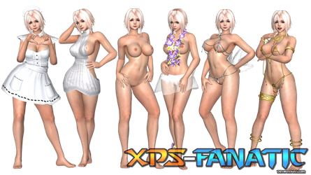 DOAX3 - Luna Nudeable Models for XNALara/XPS by XPS-Fanatic