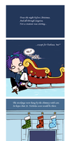 Twas the Night Before Starry Sky by blueskyfish
