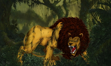 Lion in the Jungle by Madmax00007